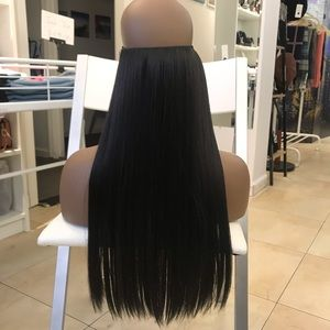 "26"" Fish line band halo hair extensions"